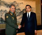 Beijing (China): Li Keqiang meets with Russian Defence Minister Sergei Shoigu