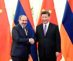 CHINA BEIJING XI JINPING ARMENIAN PM MEETING