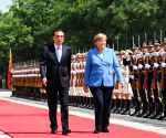 CHINA BEIJING GERMANY LI KEQIANG MERKEL MEETING