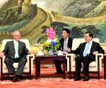 CHINA BEIJING ZHANG DEJIANG PERU PRESIDENT MEETING