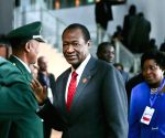 President of Burkina Faso Blaise Compaore arriving at the EU-Africa Summit
