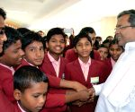 Karnataka CM interacts with the students visiting Suvarna Soudha
