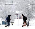 SERBIA-BELGRADE-WEATHER-SNOW