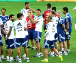 Argentina's Gonzalo Higuain is seen during a training session in Belo Horizonte, Brazil