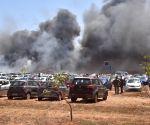 300 cars gutted in fire near Bengaluru air show