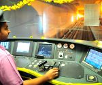 Metro train's first underground trial