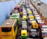 Traffic jam at Mekri Circle