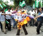 JD(S) Youth wing protest against BJP MLA Prabhu Chawan