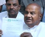 H D Devegowda's press conference