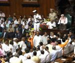 BJP leaders disrupt Karnataka Governor's address