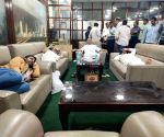 Karnataka BJP legislators stage protest sleep in Assembly
