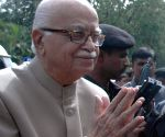L K Advani arrives in Bengaluru