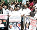 Congressmen demonstrate against RSS chief
