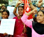Dalit midday meals workers protest
