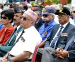 Veterans demonstrate to press for One Rank One Pension
