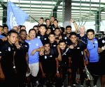 Bengaluru Football Club players celebrate I League win