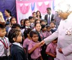 Kalam interacts with school students in Bengaluru
