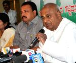 H D Deve Gowda's press conference