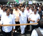 JDS demonstration against splitting of BBMP