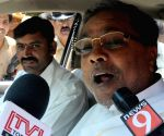 Karnataka CM talks to press