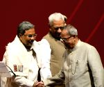 President Mukherjee at the launch of Mobile One - the e-governance project in Karnataka