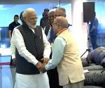 Modi at space centre to watch India land on moon