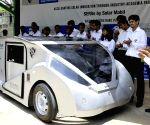 Engineering students unveil their solar solar car