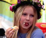 Students at International Food Fair
