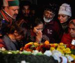 Martyr Major Vibhuti Shankar Dhoundiyal mortal remains arrive in City