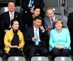 GERMANY CHINA XI JINPING MERKEL YOUTH FOOTBALL MATCH