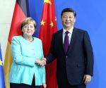 GERMANY CHINA XI JINPING MERKEL TALKS