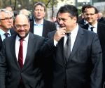 Coalition talks at the headquarter of Christian Democratic Union