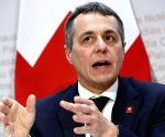 SWITZERLAND BERN EU PRESS CONFERENCE
