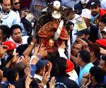NEPAL-BHAKTAPUR-BISKET JATRA FESTIVAL