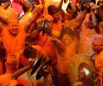 NEPAL-BHAKTAPUR-SINDOOR JATRA FESTIVAL