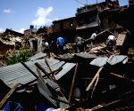 NEPAL BHAKTAPUR EARTHQUAKE AFTERMATH