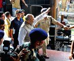 Kolkata: Amit Shah arrives at Sealdah railway station