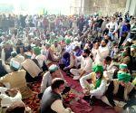 Bheem Army Sena supporting Farmers during a protest against Farmer Bill at Gajipur Boder