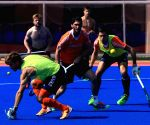 Netherland Hockey team during a practice session at Kalinga Stadium
