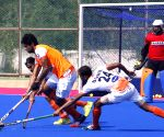 Indian men's hockey team during a practice session