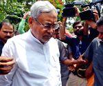 Nitish Kumar during JD(U) meeting