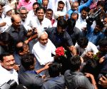 Nitish Kumar at JD-U headquarters