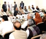 Nitish Kumar during a party meeting