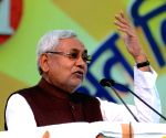 Nitish Kumar during Bihar Diwas celebrations