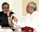 Cabinet meeting- Bihar CM Nitish Kumar, Dy CM Sushil Kumar Modi