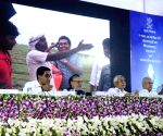 Nitish Kumar, Sushil Kumar Modi at foundation stone laying ceremony of a library