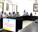 Bihar CM, Dy CM during a review meeting