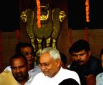 Nitish Kumar arrives at Bihar assembly