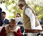 Nitish Kumar celebrates Makar Sankranti at RJD chief's residence