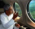 CM Nitish conducts aerial survey of flood affected areas